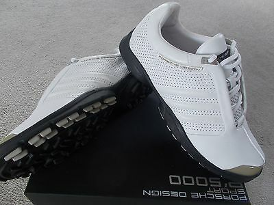Adidas Golf Shoes Trainer Style Porsche 'pd Golf Spikeless' Uk 10 Eu44 2/3 White