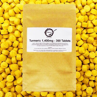 1,400mg Turmeric 90/360+ Tablets High Strength Extract INFLAMMATION JOINTS PAIN