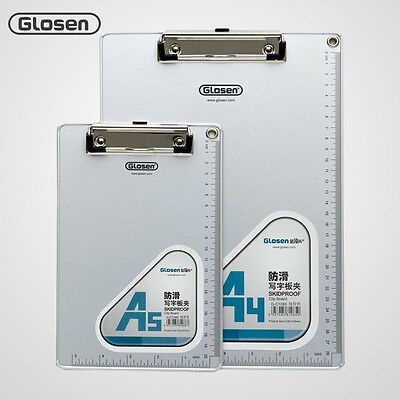 Glosen A4/A5 Aluminum Office Files Folder Clip Board Pad Writing Plate Skidproof
