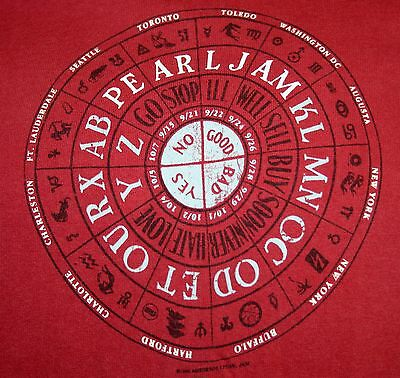 Pearl Jam No Code Tour XL T Shirt 1996 Rare Eddie Vedder Grunge Rock Free Ship