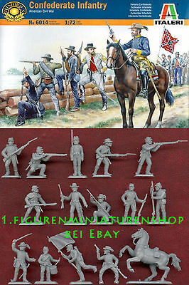 1:72 FIGUREN  6014 Confederate Troops - ITALERI