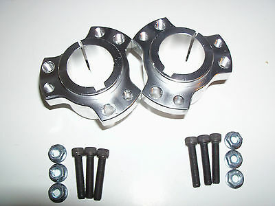"Set of 2 Rear Wheel Hubs, 1-1/4"" Bore, Racing Go Kart, Cart,"