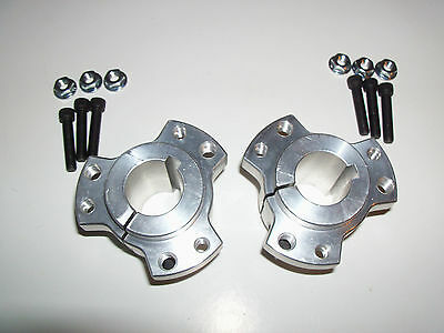 "Set of 2 Rear Wheel Hubs, 1"" Bore, Racing Go Kart, Cart,"