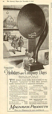 1923 vintage AD MAGNAVOX very early Radio AD Big Horn Speaker no battery  062217