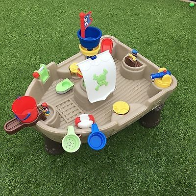 Ex Con Little Tikes Water Table Play Kids Pirate Ship Boat Outdoor Play Set
