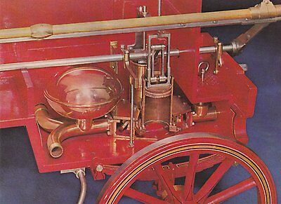 A Postcard showing a cross section of a 19th Century Manual Fire Pump