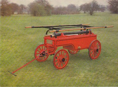 A Postcard showing a 1898 Horse-Drawn Fire Pump as was used at Dorchester Prison