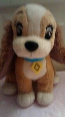 Lady and the Tramp pretty soft toy  Disney approx 6 inches tall original  RARE