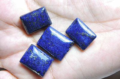 4 Pcs Lot Natural Lapis Lazuli Smooth Polished Chewing Gum Shaped Beads
