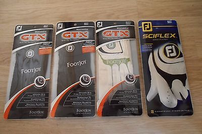 Footjoy GTX And Sciflex Mens Small Left Handed Golf Gloves, Four Pairs,