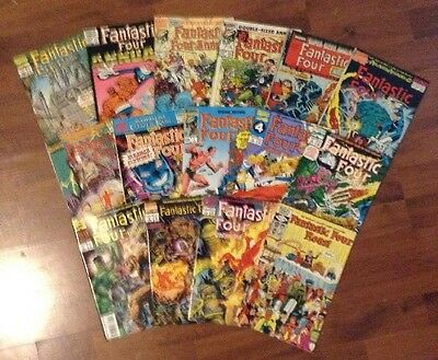 FANTASTIC FOUR  LOT OF 15 MARVEL SUPERHEROES COMICS #'s 389-ANNUALS ULTIMATE