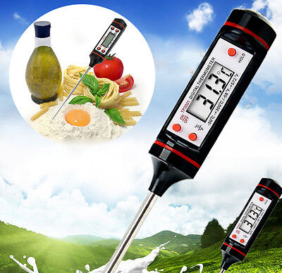 Digital Kitchen Probe Thermometer Food Temperature Cooking BBQ Baking Jam Meat