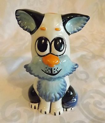 Very RARE Lorna Bailey Dog Blue Colourway 1/1 Prototype Signed in Black