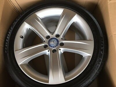 "Set of 4 Genuine Mercedes Benz SL 18"" Alloy wheels and Tyres"