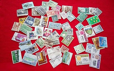 Iceland stamps - mint/used selection. See notes/scans