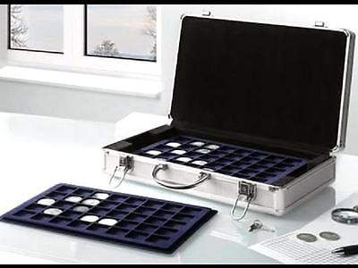 Lockable Aluminium Coin Case for 205 coins