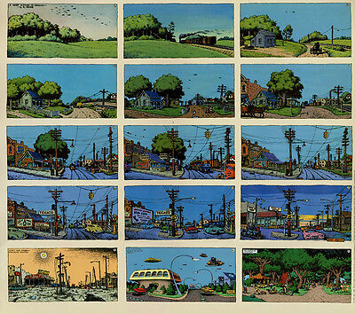 R Crumb - A Short History Of America Poster - 15 Panels - Kitchen Sink