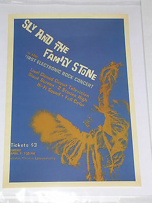 SLY & THE FAMILY STONE Concert Poster IDAHO STATE UNIVERSITY