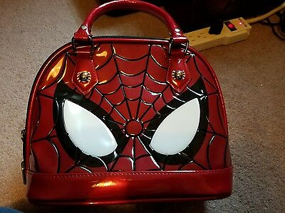 Spiderman patent leather dome purse from Loungefly!!! Brand new!!!