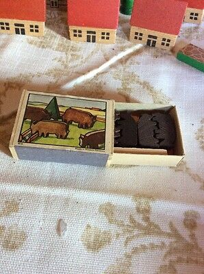 Vintage Build With  Me MATCHBOX wooden Puzzle Toy WEST GERMANY 10/6