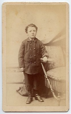 Young Boy CDV Carte de Visite Original J.H. Peters & Co