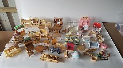 Sylvanian Families Calico Critters Furniture Accessories Huge Bundle Joblot (1)