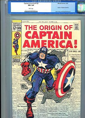 Captain America 109 CGC 9.4 WHITE pages Old Slab upgrade 9.6 ? Origin issue 1969