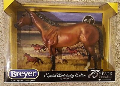 Breyer Horses Traditonal AQHA 75th Anniversary Quarter Horse Model Bay - NIB