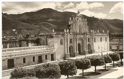 Cathedral, Antigua Guatemala photo rppc Postcard