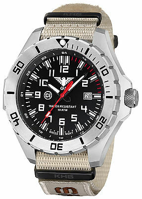 KHS Men's Military Wristwatches C1-light Date Military XTAC Band KHS.LANS.NXTLT5