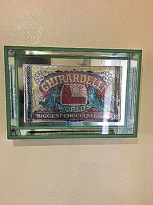 Vintage GHIRARDELLI Biggest Chocolate Bar Advertisement from San Francisco Stor