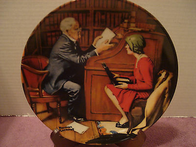 Knowles Norman Rockwell's Heritage Collection 10th Collector Plate THE PROFESSOR