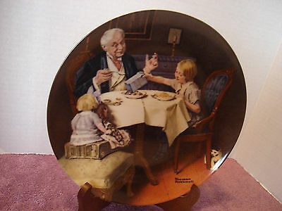 """Knowles Norman Rockwell Plate China   """"The Gourmet"""" 1985. Coa"""