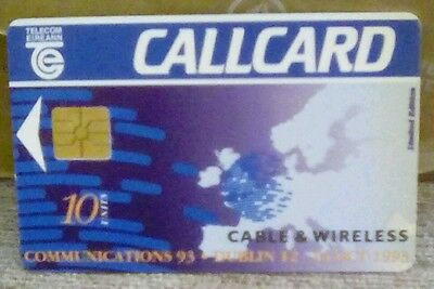 Telecom Eireann callcard cable and wireless communicatuons 1993