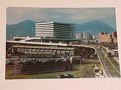 Vintage Hong Kong Postcard - Kowloon Canton Railway Terminal Approach - Y441