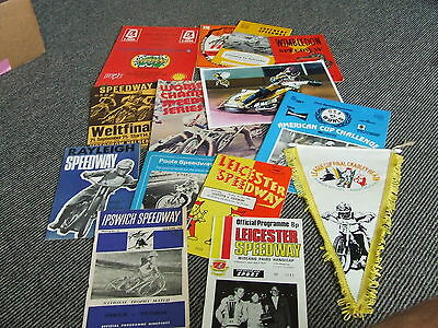 Collection Of Speedway Programmes And Shirt And Pennant Etc From 1952 +