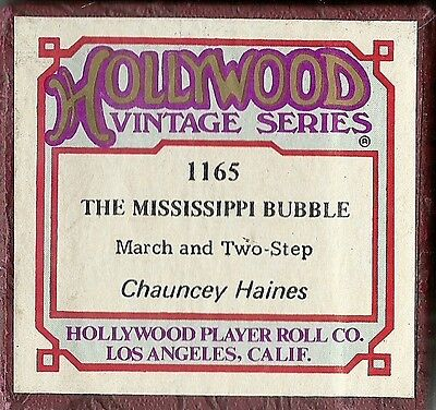 Mississippi Bubble, Chauncey Haines, Aeolian 8496 Piano Roll 8152 recut Hwd 1165