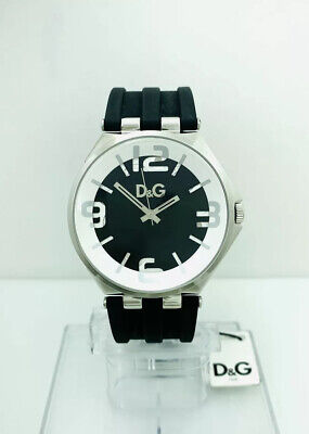 D&G Dolce and Gabbana Men's CARSON DW0582 Black Silicon Strap Watch