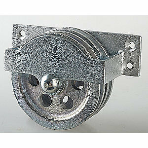 PEERLESS Double Pulley Block,Sheave OD 3-1/4 In., 3-120-30-86-