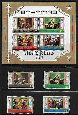 Bahamas 1974 Xmas - Miniature  Sheet and Stamps - MNH