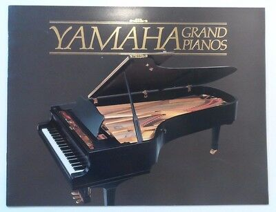 Vintage 1988 Yamaha Grand Pianos Color Brochure