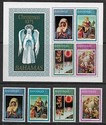 Bahamas 1973 Xmas - Miniature  Sheet and Stamps - MNH