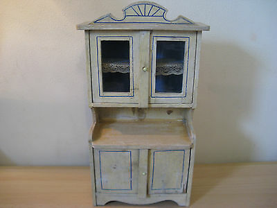 For a larger dollhouse...beautiful antique cupboard Moritz Gottschalk 1895!