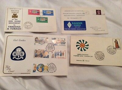 Girl guide first day cover stamps