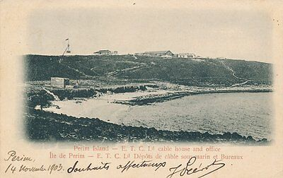 Yemen Aden Perim Island Cable House And Office 1903