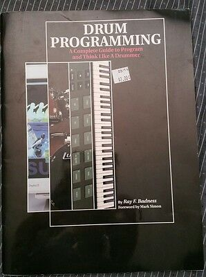 Drum Programming By Ray Badness-Hal Leonard Publishing 1991 Soft Cover Book RARE
