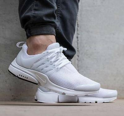 Nike Air Presto UK Size 9 & 10 EUR 44 & 45 Men's Trainers Shoes White Running