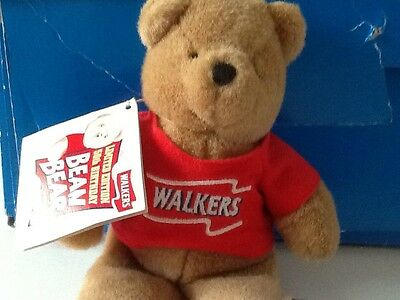 WALKERS LIMITED EDITION 50th BIRTHDAY BEAN BEAR - RED T-SHIRT - 8inches tall