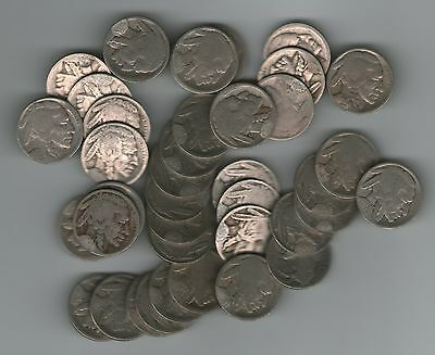 Buffalo Nickels, 20 Different 1913-29 Restored Dates