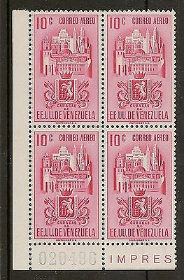 """VENEZUELA 1951-54 ARMS AIRS 10c SHORT """"1"""" IN """"10"""" VARIETY FOR THE (24) STATES"""